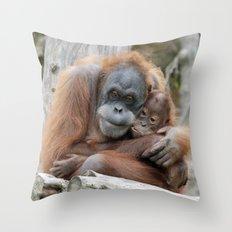 Orang Utan 008 Throw Pillow