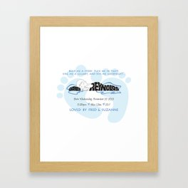 New Baby Boy Gift Name Silhouette Framed Art Print