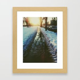 late winter sunset Framed Art Print