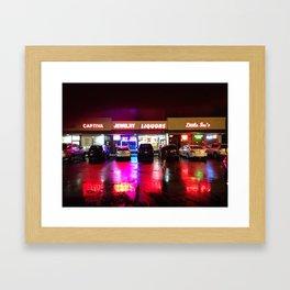 Colored Lights Framed Art Print