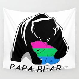 Papa Bear Polysexual Wall Tapestry