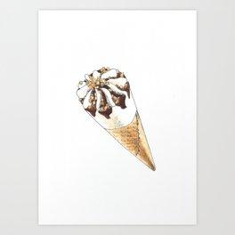 Cornetto icecream Art Print