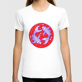 Red White Blue Pisces T-shirt