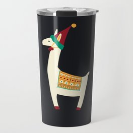 Christmas llama Hat Travel Mug