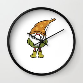 Albignome Gnome Owner Gift Wall Clock