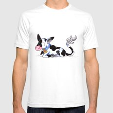 Little Holstein SMALL White Mens Fitted Tee