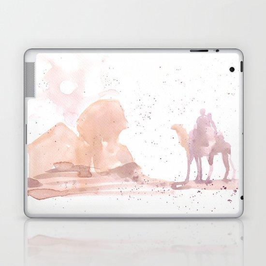 Watercolor landscape illustration_Egypt Laptop & iPad Skin