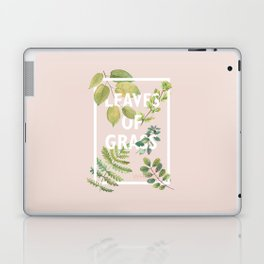 Leaves of Grass, Walt Whitman, book cover illustration, american poetry collection, flowers art Laptop & iPad Skin