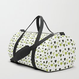 Green Heart Pattern Duffle Bag