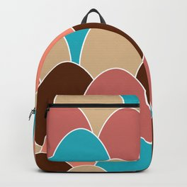 Colorful Eggs Repeating Pattern Backpack