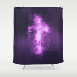 Eight music note symbol. Abstract night sky background Shower Curtain