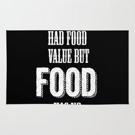 Beer had food value but Food has no beer value Rug