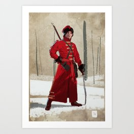 Russian Cossack Art Print