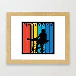 Retro Style Keyboard Keyboardist Musician Framed Art Print