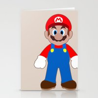 sticker Stationery Cards featuring Sticker Mario by Rebekhaart