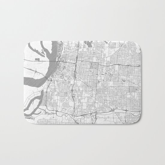 Memphis Map Line Bath Mat