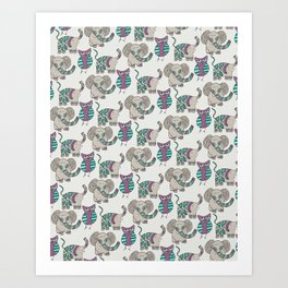 Whimsical Animals Art Print