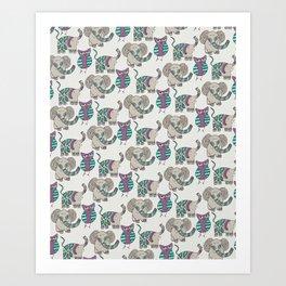 Whimsical Animals Art Print