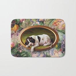 A small joke with a dog Bath Mat