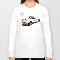 porsche Long Sleeve T-shirts featuring Porsche 964 by Carrture
