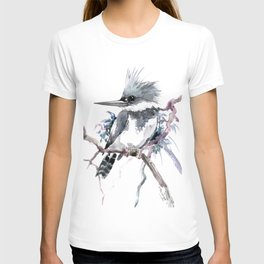 Belted Kingfisher, Gray design, Gray design T-shirt