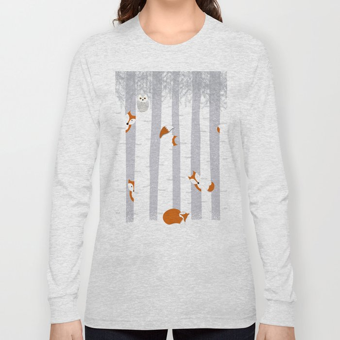 Playing in the snow Long Sleeve T-shirt