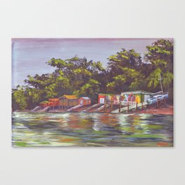 Fishers bach on Omiha bay Waiheke Island New Zealand Canvas Print