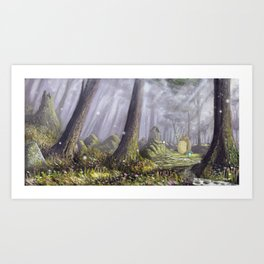 Totoro's Forest Art Print
