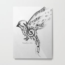 Bird of music Metal Print