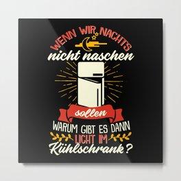 Licht Im Kühlschrank - Gift Metal Print