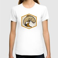 trout T-shirts featuring Trout Jumping Cartoon Shield by patrimonio