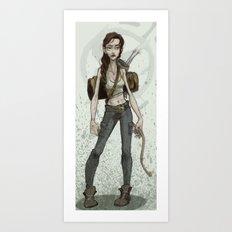 Hunger Games- Katniss Illustration Art Print