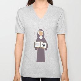 St. Hildegard of Bingen Unisex V-Neck