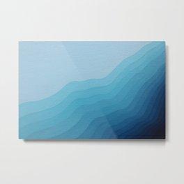Icy Wave Metal Print