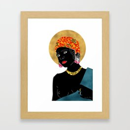 Mary in White Framed Art Print