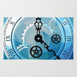 Blue Clock Rug