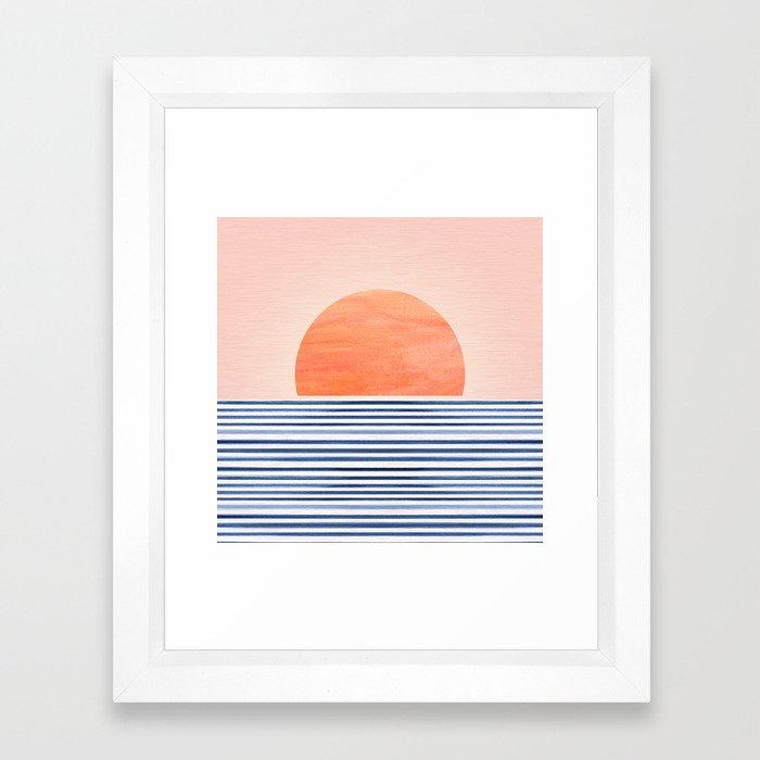 Summer Sunrise - Minimal Abstract Framed Art Print