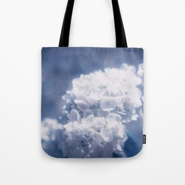Grace and Beauty Defined a blue Hydrangea flower Tote Bag