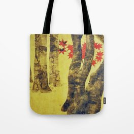 Anata In Red and Gold Tote Bag