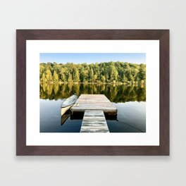 Dock on the Lake Framed Art Print
