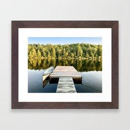 Dock on the Lake Framed Art Print