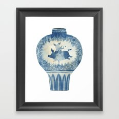 Pig Vase Framed Art Print