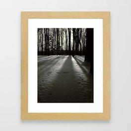 Wooded Winter Framed Art Print