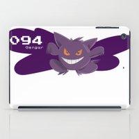 gengar iPad Cases featuring Pkmn #094: Gengar by Michelle Rakar