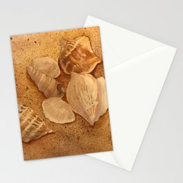Shells in the Sand Stationery Cards