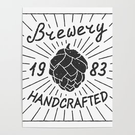 Brewery Handcrafted Fashion Modern Design Print! Beer style Poster