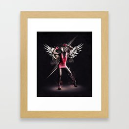 Pink Dancer Framed Art Print
