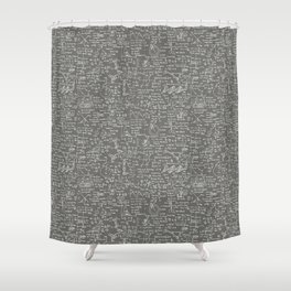 Physics Equations // Slate Grey Shower Curtain