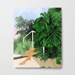 Hiding in Green #painting #illustration Metal Print