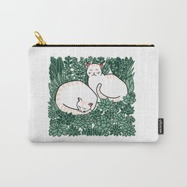 Cats in a succulent garden Carry-All Pouch